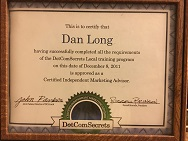 Danny Long's Certification